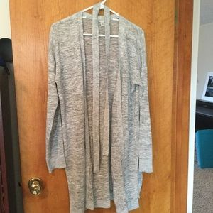 Long summer weight cardigan with belt